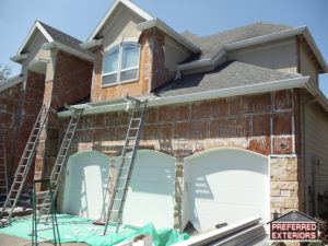 Affordable Eifs Dryvit syntehtci stucco siding contractors with logo