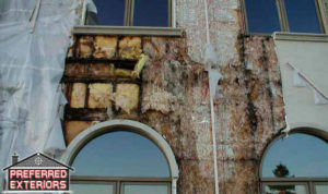 Best EIFS stucco rot repair siding contractors with logo