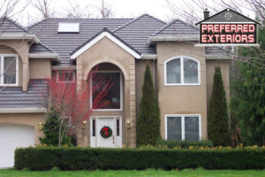 Local EIFS Dryvit syntethic stucco siding reaplement companies with logo