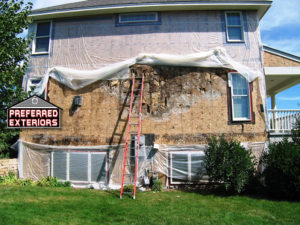 affordable dry rot siding repair contractors with logo