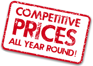 Competitive Prices All Year